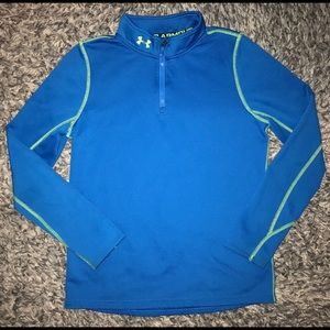 Under Armour boys long sleeve shirt top L blue